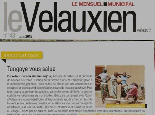 Paru dans le journal de Velaux